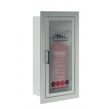 Firechief Arc Single Cabinet - Stainless Steel Fully-Recessed Extinguisher Cabinet