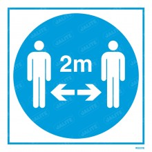STAY 2 METRES APART SIGN