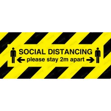 SOCIAL DISTANCING PLEASE STAY 2 METRES APART SIGN